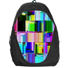 Glitch Art Abstract Backpack Bag