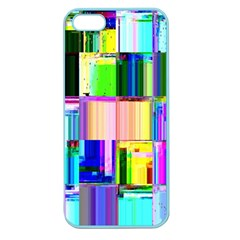 Glitch Art Abstract Apple Seamless iPhone 5 Case (Color)