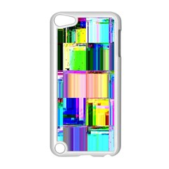 Glitch Art Abstract Apple iPod Touch 5 Case (White)