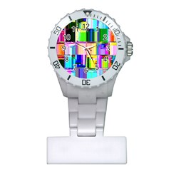 Glitch Art Abstract Plastic Nurses Watch