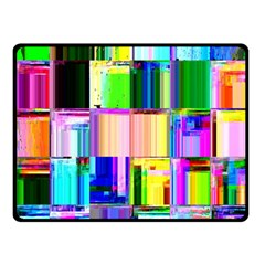 Glitch Art Abstract Double Sided Fleece Blanket (small)
