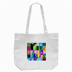 Glitch Art Abstract Tote Bag (white)