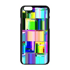 Glitch Art Abstract Apple iPhone 6/6S Black Enamel Case