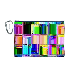 Glitch Art Abstract Canvas Cosmetic Bag (M)