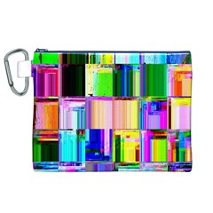 Glitch Art Abstract Canvas Cosmetic Bag (xl)