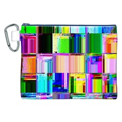 Glitch Art Abstract Canvas Cosmetic Bag (xxl)