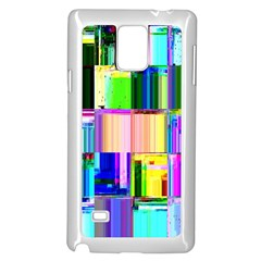 Glitch Art Abstract Samsung Galaxy Note 4 Case (White)
