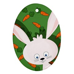 Easter bunny  Ornament (Oval)