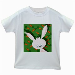 Easter bunny  Kids White T-Shirts