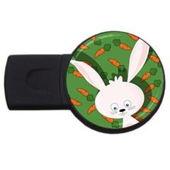 Easter bunny  USB Flash Drive Round (2 GB)