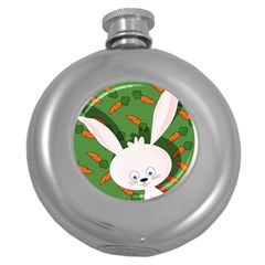 Easter bunny  Round Hip Flask (5 oz)
