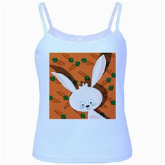Easter bunny  Baby Blue Spaghetti Tank