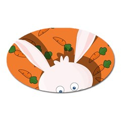 Easter bunny  Oval Magnet