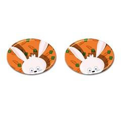 Easter bunny  Cufflinks (Oval)