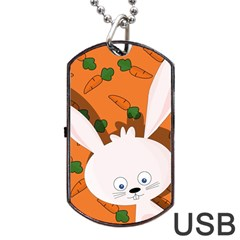 Easter bunny  Dog Tag USB Flash (Two Sides)