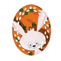Easter bunny  Ornament (Oval Filigree)