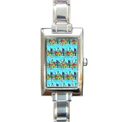 Colourful Street A Completely Seamless Tile Able Design Rectangle Italian Charm Watch