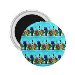 Colourful Street A Completely Seamless Tile Able Design 2.25  Magnets
