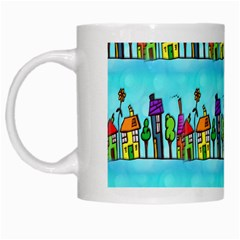 Colourful Street A Completely Seamless Tile Able Design White Mugs