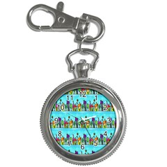 Colourful Street A Completely Seamless Tile Able Design Key Chain Watches