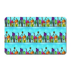 Colourful Street A Completely Seamless Tile Able Design Magnet (rectangular)