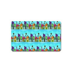 Colourful Street A Completely Seamless Tile Able Design Magnet (Name Card)