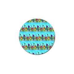 Colourful Street A Completely Seamless Tile Able Design Golf Ball Marker