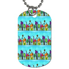 Colourful Street A Completely Seamless Tile Able Design Dog Tag (Two Sides)