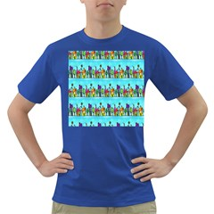 Colourful Street A Completely Seamless Tile Able Design Dark T-Shirt