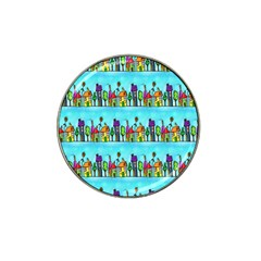 Colourful Street A Completely Seamless Tile Able Design Hat Clip Ball Marker (4 pack)