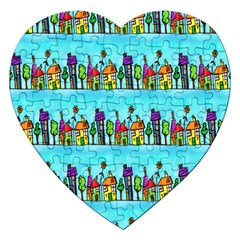Colourful Street A Completely Seamless Tile Able Design Jigsaw Puzzle (heart)