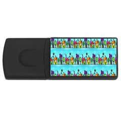 Colourful Street A Completely Seamless Tile Able Design Usb Flash Drive Rectangular (4 Gb)