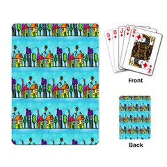 Colourful Street A Completely Seamless Tile Able Design Playing Card