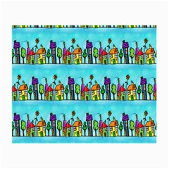 Colourful Street A Completely Seamless Tile Able Design Small Glasses Cloth (2-Side)