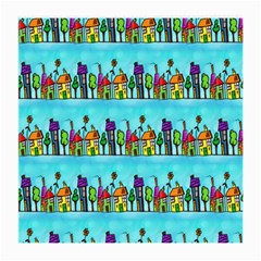 Colourful Street A Completely Seamless Tile Able Design Medium Glasses Cloth (2 Side)