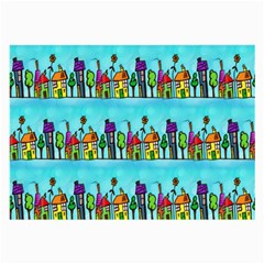 Colourful Street A Completely Seamless Tile Able Design Large Glasses Cloth (2 Side)