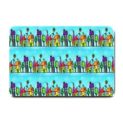 Colourful Street A Completely Seamless Tile Able Design Small Doormat