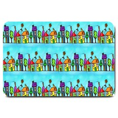 Colourful Street A Completely Seamless Tile Able Design Large Doormat