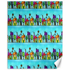 Colourful Street A Completely Seamless Tile Able Design Canvas 11  x 14