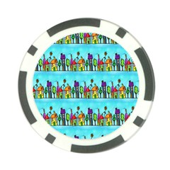 Colourful Street A Completely Seamless Tile Able Design Poker Chip Card Guard
