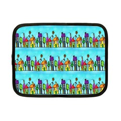 Colourful Street A Completely Seamless Tile Able Design Netbook Case (Small)