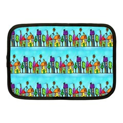 Colourful Street A Completely Seamless Tile Able Design Netbook Case (medium)