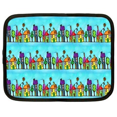 Colourful Street A Completely Seamless Tile Able Design Netbook Case (large)