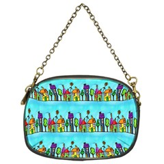 Colourful Street A Completely Seamless Tile Able Design Chain Purses (one Side)
