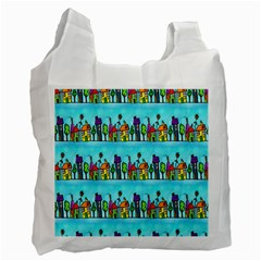 Colourful Street A Completely Seamless Tile Able Design Recycle Bag (Two Side)