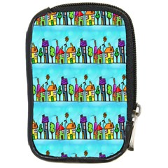 Colourful Street A Completely Seamless Tile Able Design Compact Camera Cases