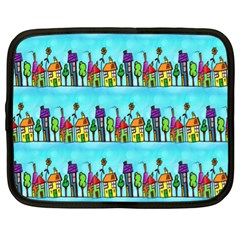 Colourful Street A Completely Seamless Tile Able Design Netbook Case (xl)