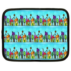 Colourful Street A Completely Seamless Tile Able Design Netbook Case (xxl)