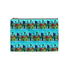 Colourful Street A Completely Seamless Tile Able Design Cosmetic Bag (medium)