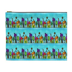 Colourful Street A Completely Seamless Tile Able Design Cosmetic Bag (XL)